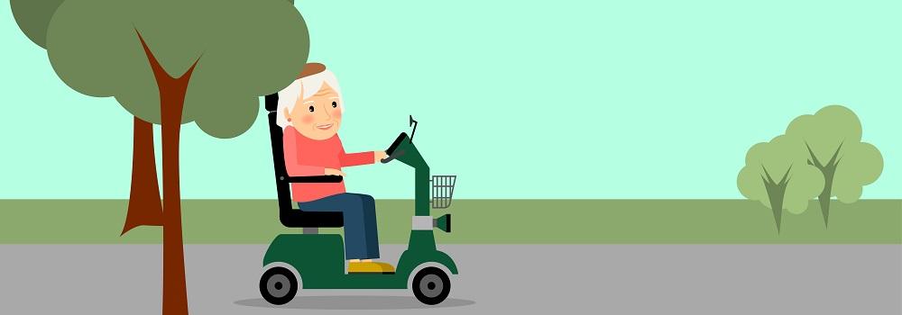 Elektromobile ermöglichen körperlich eingeschränkten Personen mehr Selbstständigkeit, Unabhängigkeit und Bewegungsfreiheit.